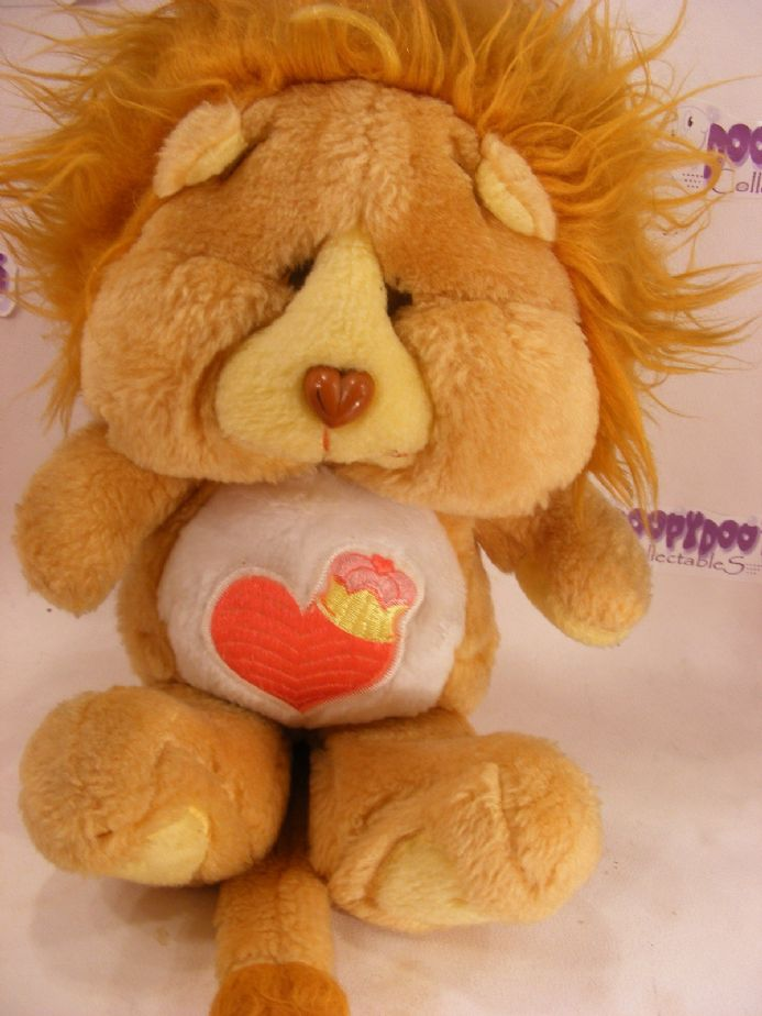 "VINTAGE 12"" BRAVEHEART LION CARE BEARS COUSIN"